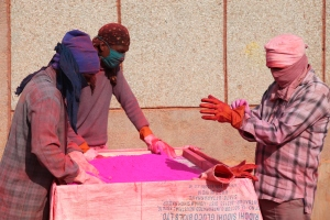 Holi colors project at Tihar